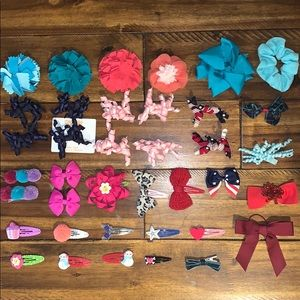 Girls toddler Gymboree hairties clips accessories